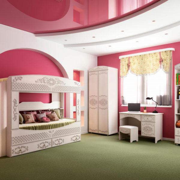 Кровать Каролина с бортом