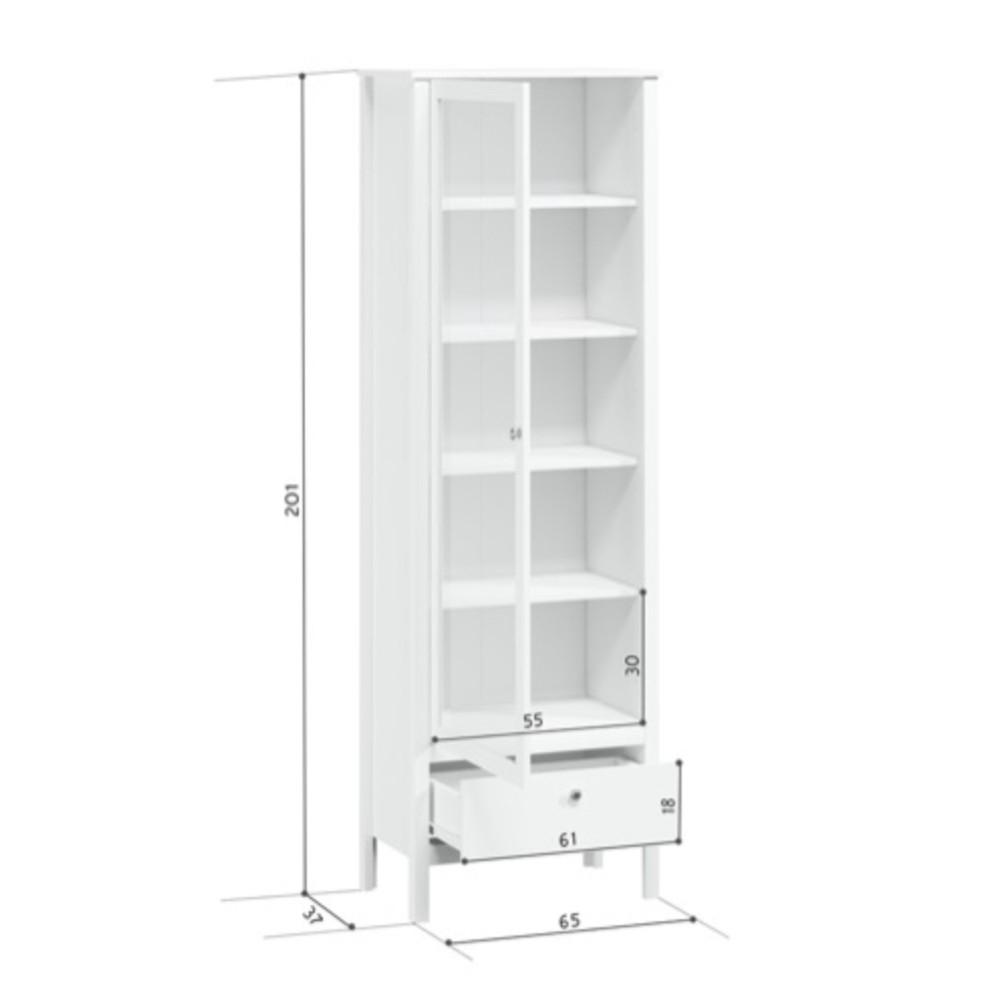 Шкаф-витрина с подсветкой Хельга REG1W1S/65