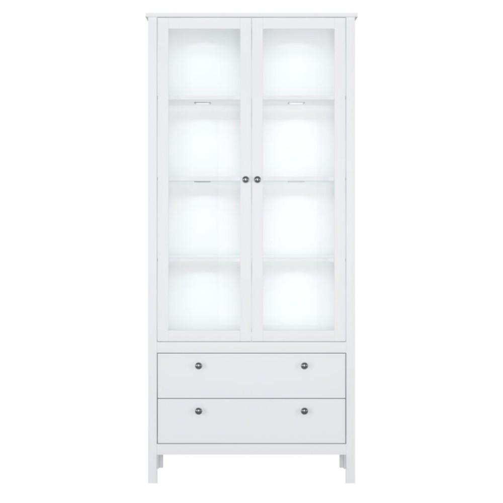 Шкаф-витрина с подсветкой Хельга REG2W2S
